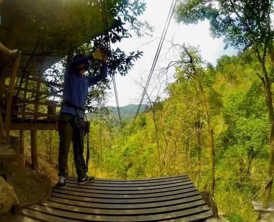 Ziplining 400 meters