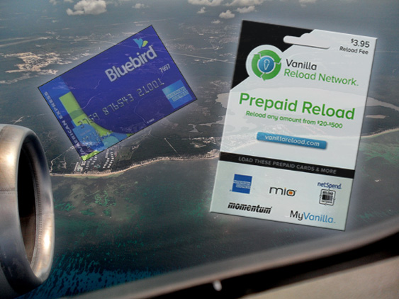 Earning Miles With Bluebird and Vanilla Reload
