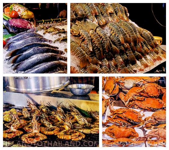 Thailand seafood in Hua Hin Night Market
