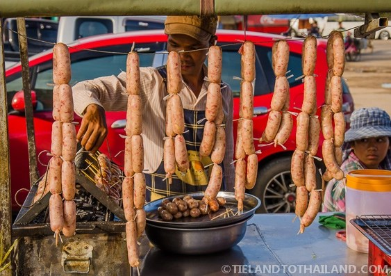 Sausage in Rong Kluea Market