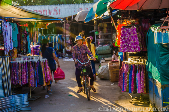 Bicycle Woman Ban Khlong Luek Border Market
