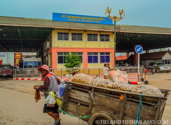 Thai Cambodian Border Market Vendor Cart