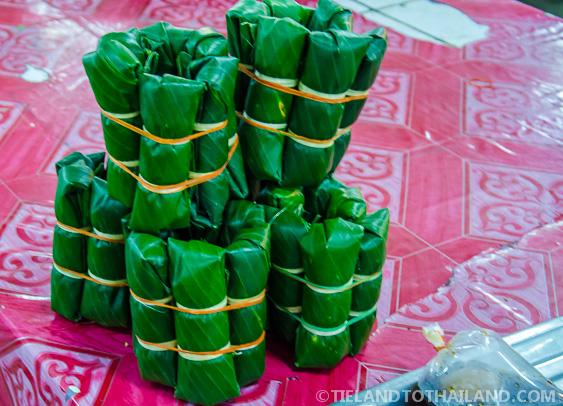 Thai Custard in Banana Leaves
