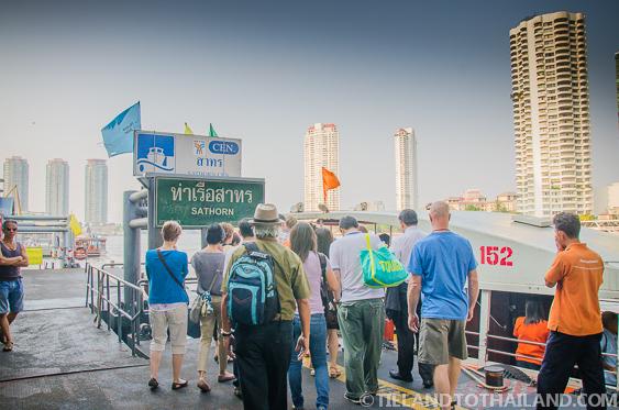 Chao Phraya Orange Flag Express Boat