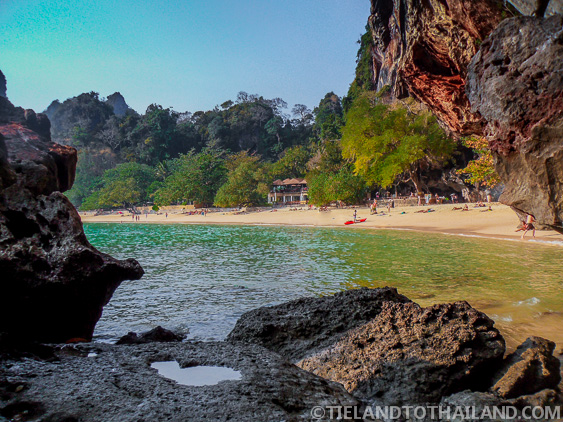 View of Phra Nang Beach from a cave
