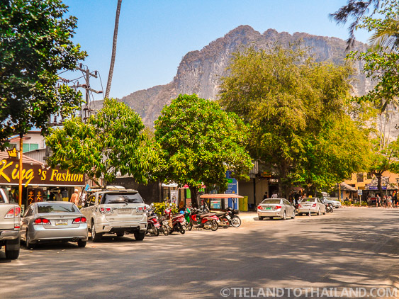 Downtown Street View of Ao Nang