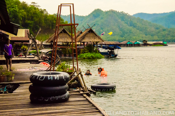 Deckside at the Mae Ngat Dam Floating Houses