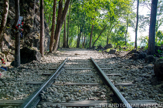 The remaining railway at the Hellfire Pass