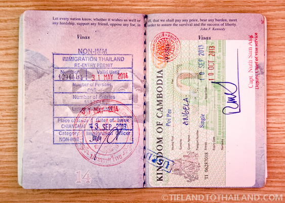 Complete Thai Re-Entry Permit