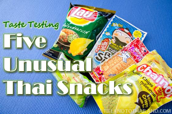 Taste Testing Five Unusual Thai Snacks