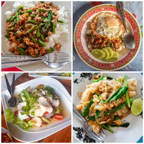 Popular Thai Dishes, Eaten with a Fork & Spoon