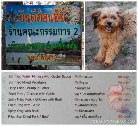 Restaurant #2 and Menu at Huay Tung Tao Lake