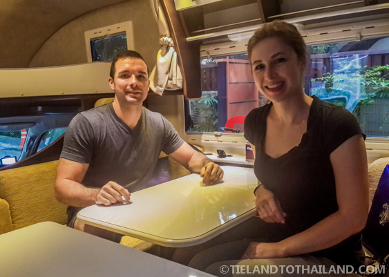 Getting comfortable in Campervan Thai
