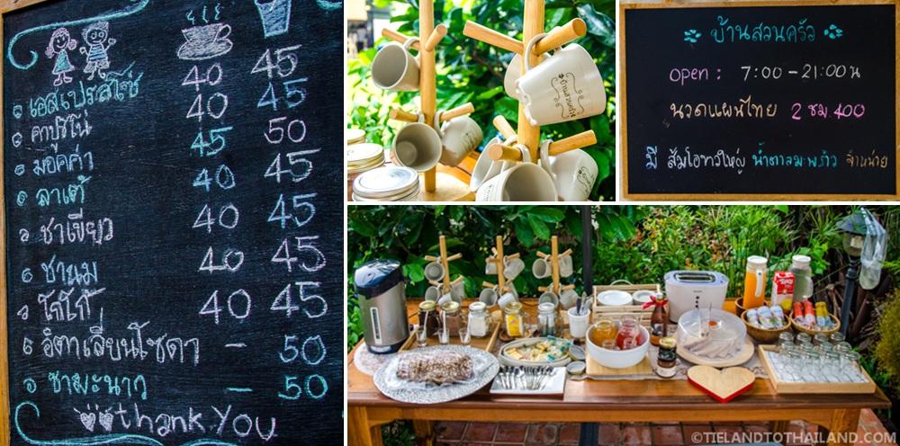 Breakfast spread at Baan Suan Krua Homestay