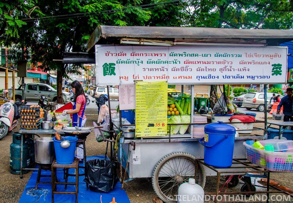 This lady makes a mean stir-fry dish at Chiang Mai Street Food Stalls