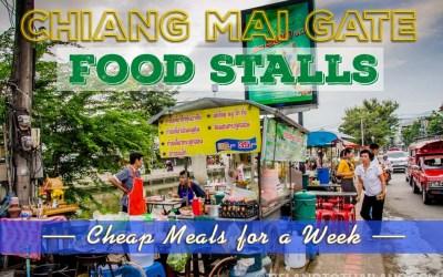 Cheap Eats at Chiang Mai Gate Food Stalls