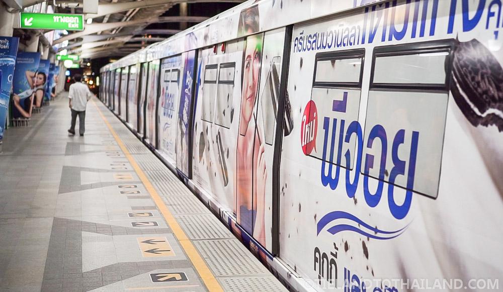 The ultra modern skytrain in Bangkok, Thailand