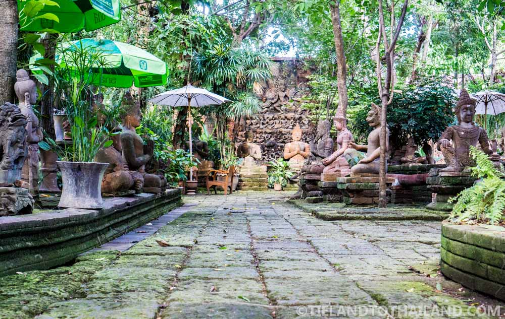 Cool and serene inside the Terracotta Arts Garden in Chiang Mai