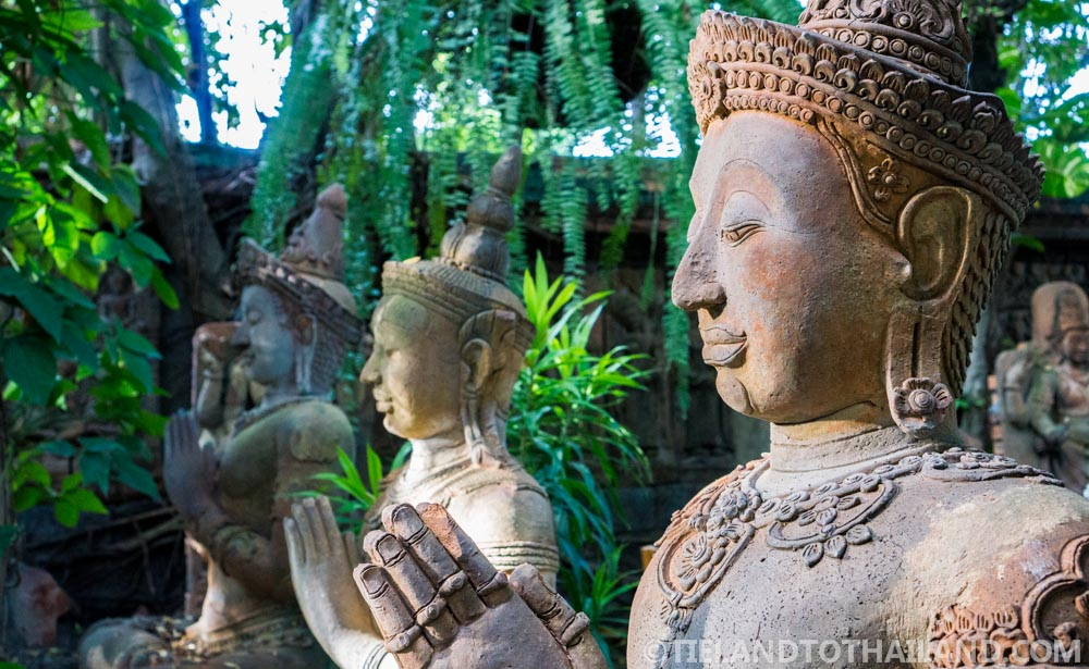 Garden status in the Terracotta Arts Garden in Chiang Mai
