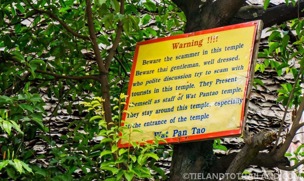 Beware of Thai scams