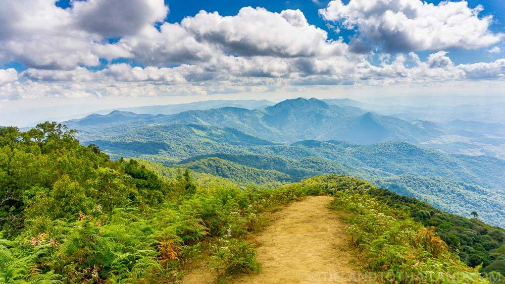 Views from atop Doi Inthanon, Thailand's tallest mountain