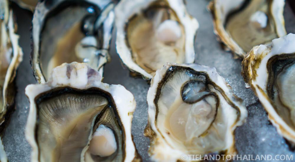 Fresh oysters at Nikki Beach Koh Samui Sunday Brunch
