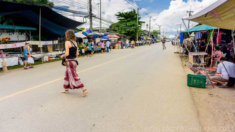 Spaghetti strap shirts and walking around barefoot are not acceptable in Thailand.