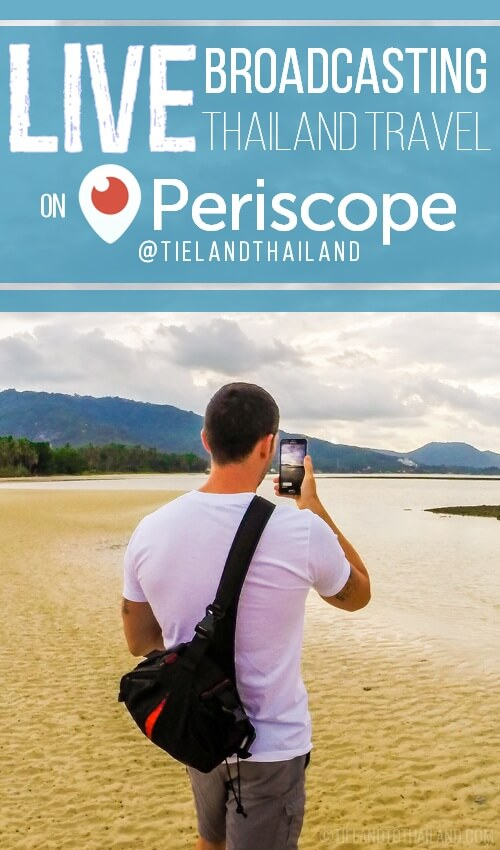 ou don't have to BE in Thailand to hear waves on the beach or to watch a street stall food vendor in action. Watch it through our eyes by following us @TielandThailand on Periscope