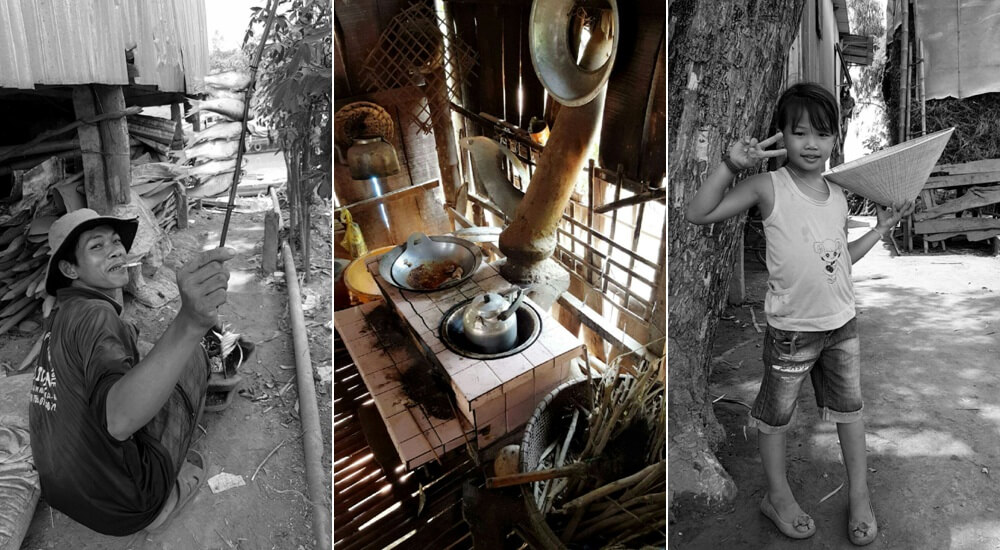 Farmers home on Vinh Hao (Evergreen Island) Vietnam