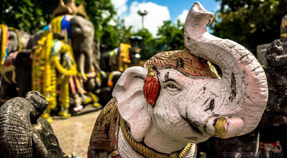 Elephant Shrine Cape Phromthep in Phuket