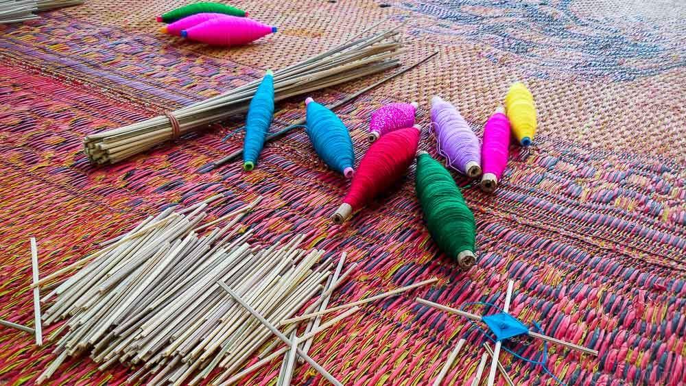Thread from Tai Dam weavers