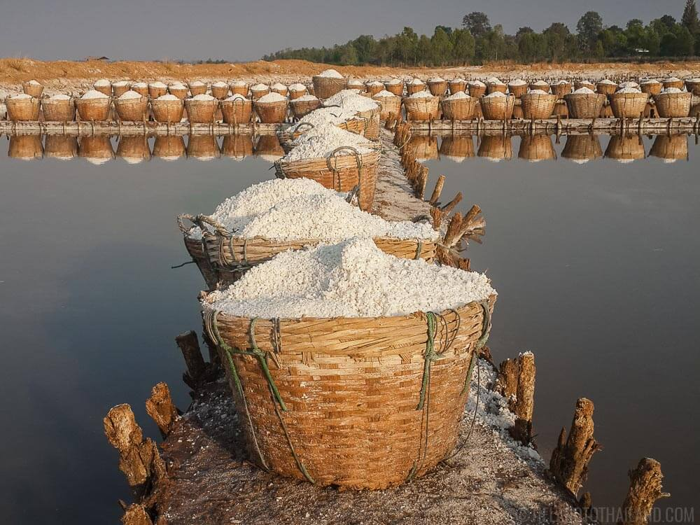 Baskets of high quality flower salt in Ban Dung, Udon Thani