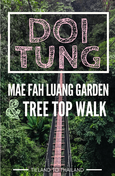 The Doi Tung Mae Fah Luang Garden is one of the most popular attractions in the Chiang Rai province of Thailand. It also has a new canopy walk that takes you exploring among the treetops. | Tieland to Thailand
