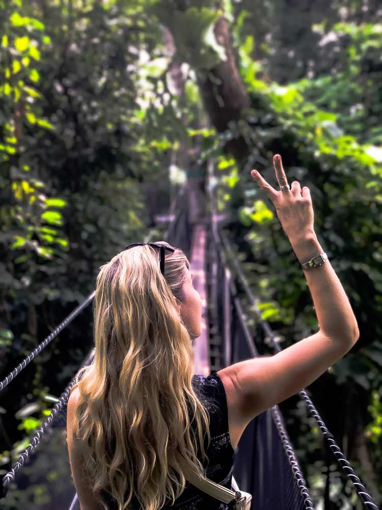 Peace in the Thai jungle at Doi Tung Tree Top Walk