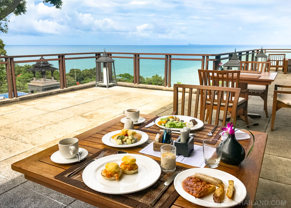 Western breakfast at the Pimalai Resort & Spa on Koh Lanta, Thailand