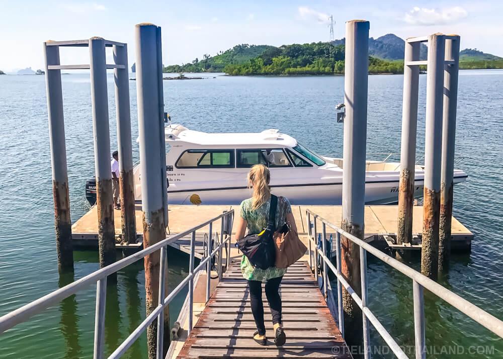 Taking Pimalai's private speedboat to Koh Lanta