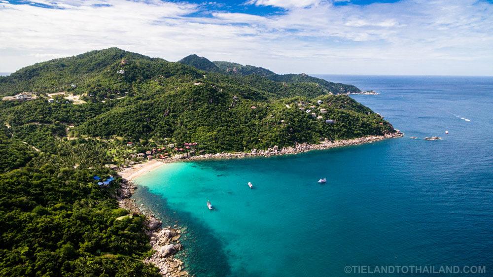 Drone Ao Leuk Beach Koh Tao, Thailand