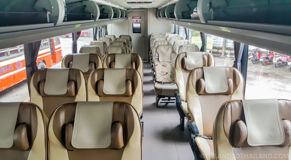 Green Bus VIP and First Class Combo Interior