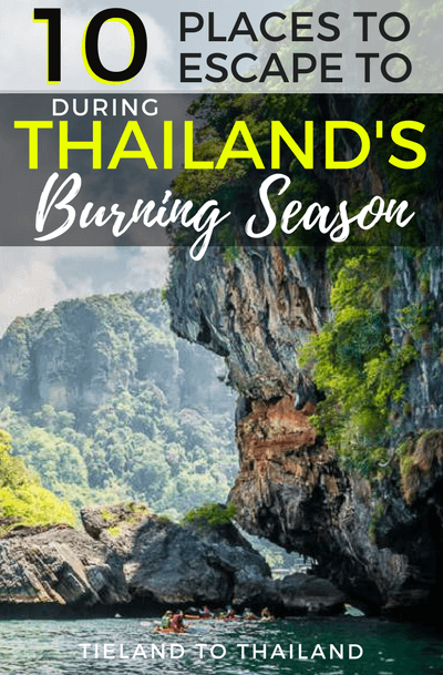 Travelers and expats alike are met with the same dilemma every year: where should you go to escape the yellow skies and smog-filled air of Thailand's burning season? Here's are top picks: six southern Thai cities and four destinations in Southeast Asia. | Tieland to Thailand