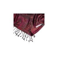 Silk jaquard shawl Marina D Este paisley burgundy