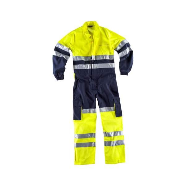 buzo-workteam-alta-visibilidad-c3000-azul-marino-amarillo-fluor