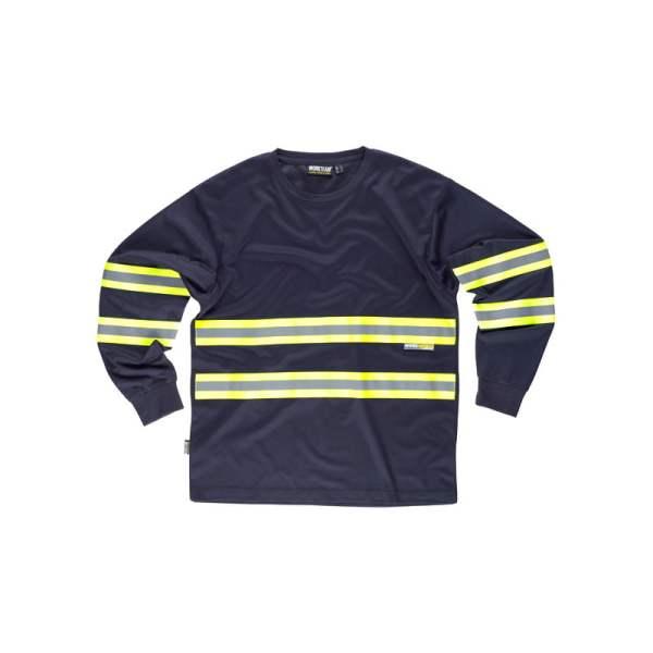 camiseta-workteam-alta-visibilidad-c3937-azul-marino-amarillo