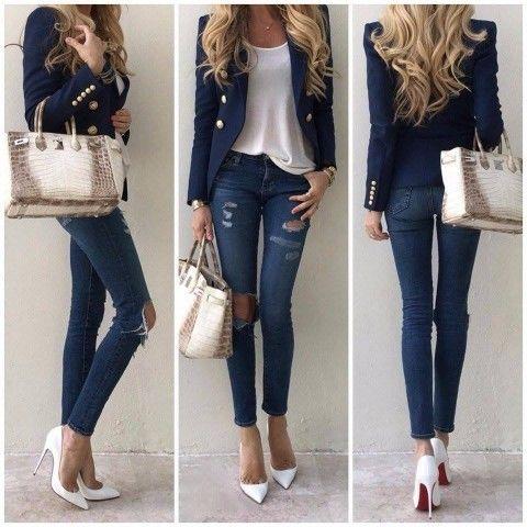¡Atrévete a juntar 2 mundos diferentes! Reglas para elegir un blazer que combine con tus jeans
