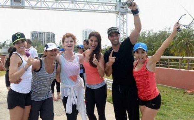 Roselyn Sánchez y Jencarlos Canela participaron en el evento en favor de los animales.