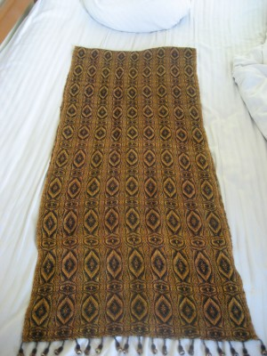 Tiger Eye shawl, designed after 1 year of weaving