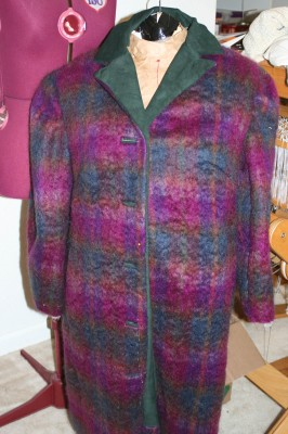 The mohair coat, collar attached