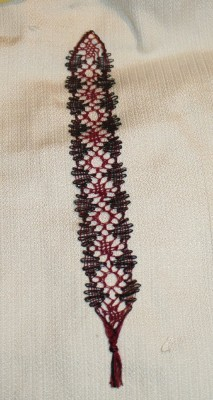 Bobbin lace bookmark - my second project