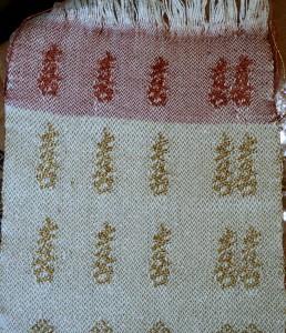 Sample for handwoven wedding dress
