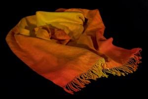 Liquid Fire handwoven shawl