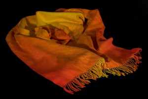 Liquid Fire handwoven shawl